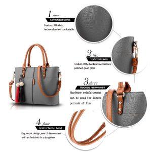Darash Fashion Womens PU Tot Bags, Oteawe Women Purses and Handbags Casual Crossbody Shoulder bag
